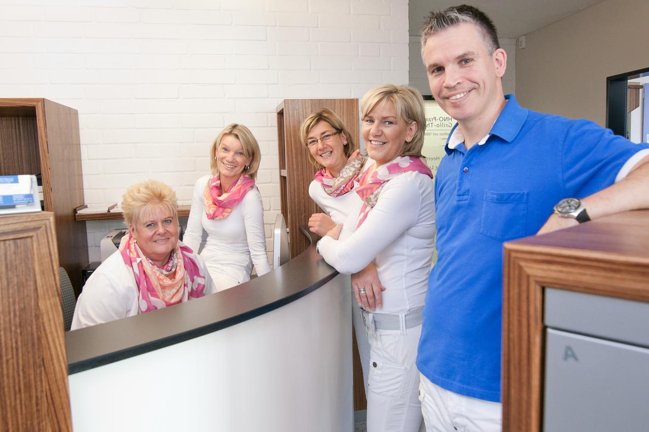 Dr. med. Jörg Lutz und das Team der HNO-Privatpraxis am Grillo-Theater