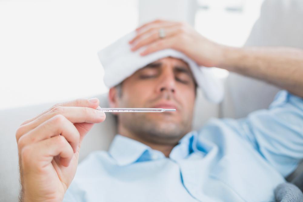 Mann mit Fieber